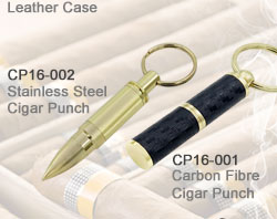 Stainless Steel Cigar Punch_Carbon Fibre Cigar Punch
