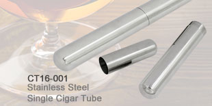 Stainless Steel Single Cigar Tube_CT16-001