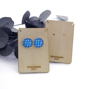Laser Cut Wooden Jewelry Display Card